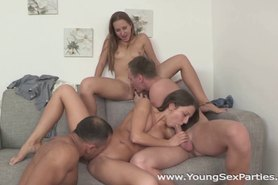 Teen sluts fucked head to head