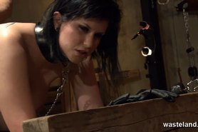 Chained up butt plugged and fucked hardcore doggy style