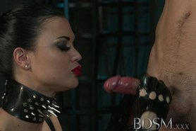 Teen sub girls innocent face drips with Masters hot cum