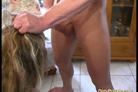 cute French slut in extreme anal drilling