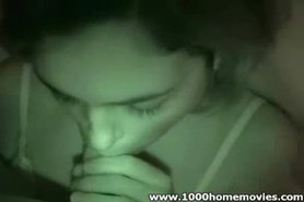 amateur nightvision blowjob and masturbate