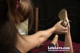 free porn video: Lelu love-blowjob while changing shoes