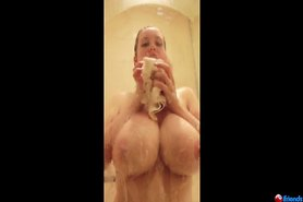 Blonde with Huge boobs