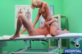 Naughty nurse heals patient with her tongue