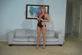 Gorgeous Blonde  tease with pantyhose