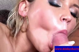 Cherry Jul in mmf trio creampie cumshot