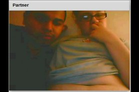 Chatroulette chubby teen, black boyfriend, fuck and creampie