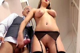 Young british slut drilled by old sir's cock