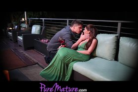 Seductive Mom Alison Star Gets Banged On Romantic Balcony Setting