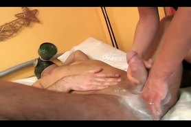 Master gets a nice cock massage