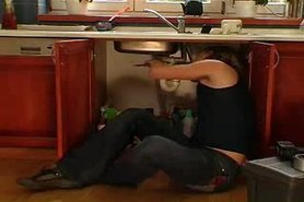 Mature Housewife attacks the Plumber...F70