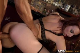 Pass Petite redhead cougar Audrey Lords fucks in a Bar