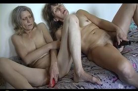 HOT Skinny granny anf skinny mature granny with sagging tits masturbating with toys