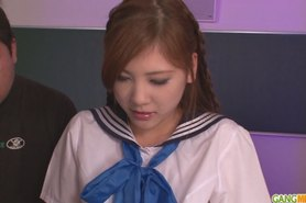 DUPLICATE Schoolgirl Yura Kasumi is a hot japanese cum girl