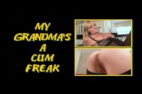 Granny Cum freak in STOCKINGS - Ginger Spice
