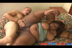Black BBW fatty gets fucked hard by black guy