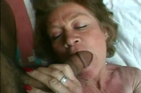 Granny fucking with two