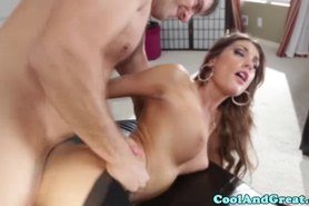 Sportive slut being ravaged by her yoga instructor