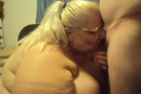 jacking off hubby cums on my tits