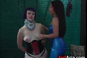 Asian MILF Abusing Her Slave