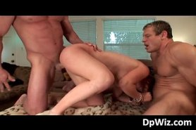 Amateur slut fucks and sucks two cocks