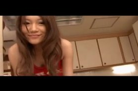 She Tease Herself And Squirt In Kitchen -L1390-