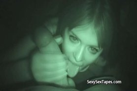 GF Blowjob Caught on Nightvision