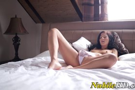 Teen toys her pussy and finger