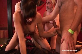 Spermastudio: cum slut Leonie fucks and sucks lots of stiff