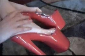 Hot Legs Red Platform High Heels