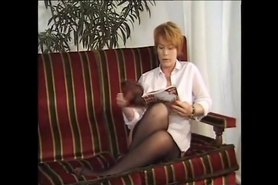 redhead mature with younger girlfriend and a guy