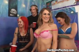 Hardcore party babes love group fucking
