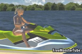 Tasty 3D blonde babe gets fucked hard on a boat