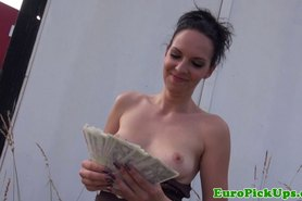 Euro girlnextdoor sucks cock for cash