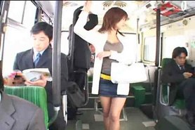 Hotaru Akane in the bus censored +