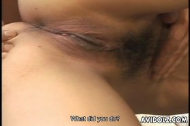 Asian hottie sucking cock like mad here