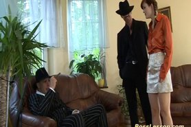 Boytoy in threesome with boss