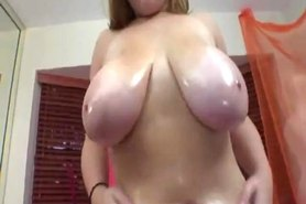 Cornfed slut has huge tits