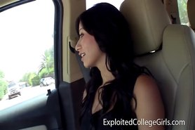 Busty Coed Mandy on Exploited College Girls