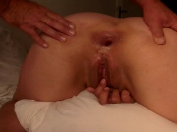 amateur anal sex hot sprawled asshole of  my wife