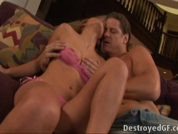 Couple having sex on the couch