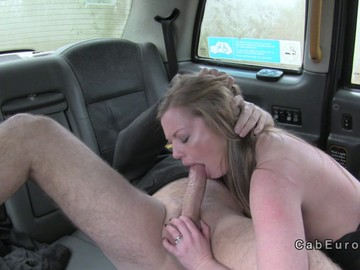 Fucking of big tits in fake taxi