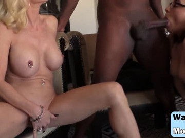 Milf Cammile And Teen Roxanne Share Black Cock