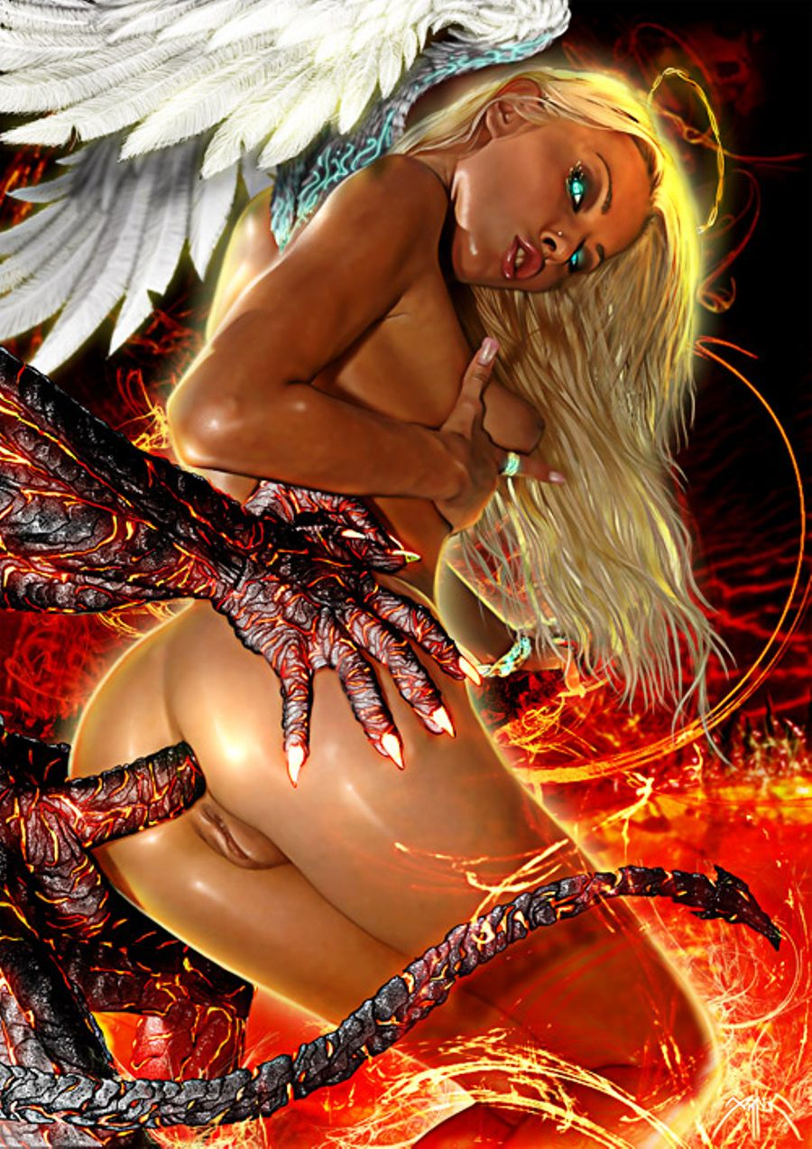 Fantasy 3d angele monster erotic art nude scenes