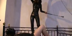 Was dominatrix whipping slave think