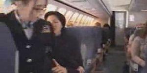stewardess handjob American