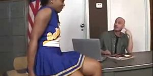 Ebony cheerleader fucked