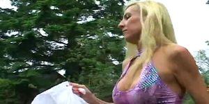 Mature blonde sara likes it rough