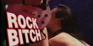 Rock bitch onstage fist fuck