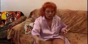 Old redhead granny